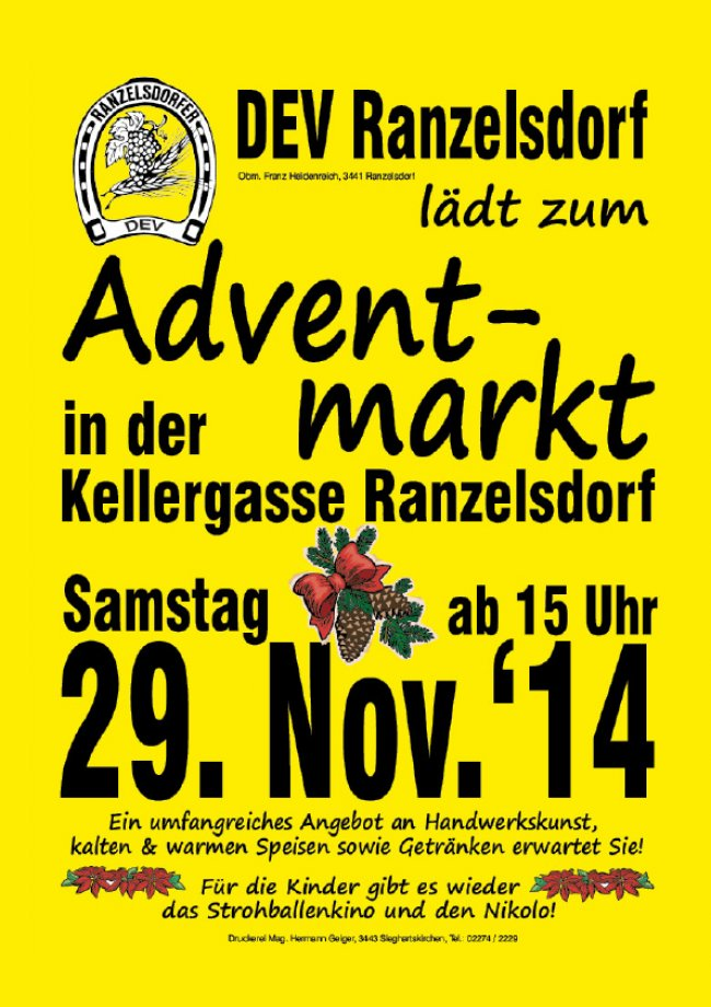 Adventmarkt in Ranzelsdorf